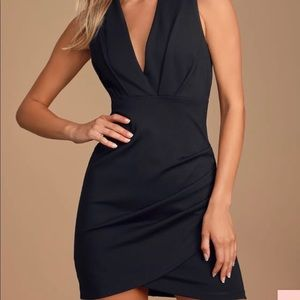 Black Wrap Cocktail Dress